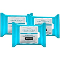 Neutrogena Hydrating Makeup Remover Facial Cleansing Wipes, Value Pack 25 Count (Pack of 3)