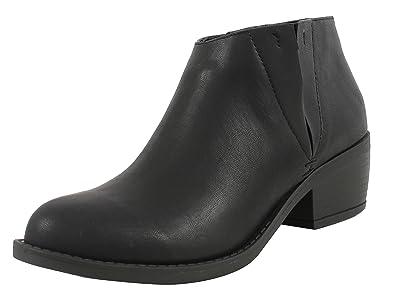 Amazon.com   Soda Women\'s Zoie Faux Leather Round Toe Elastic ...