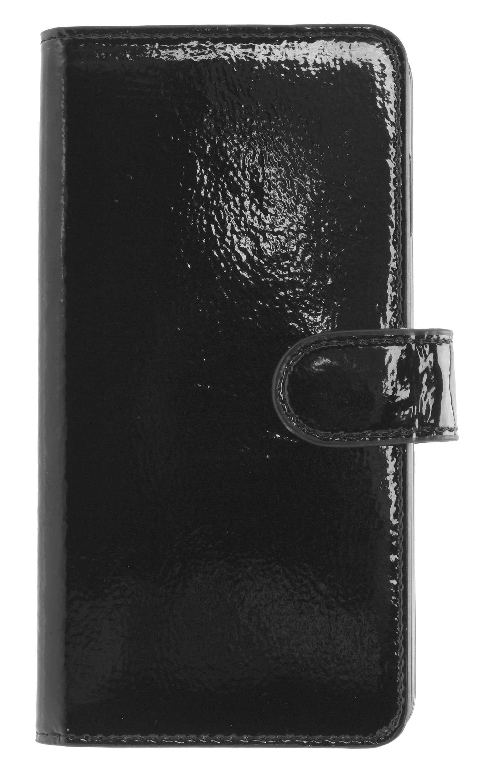 MOBILELUXE Patent Leather Wallet Phone Case for iPhone 6 Plus & 6s Plus - Patent Black/Fuchsia by MOBILELUXE (Image #1)
