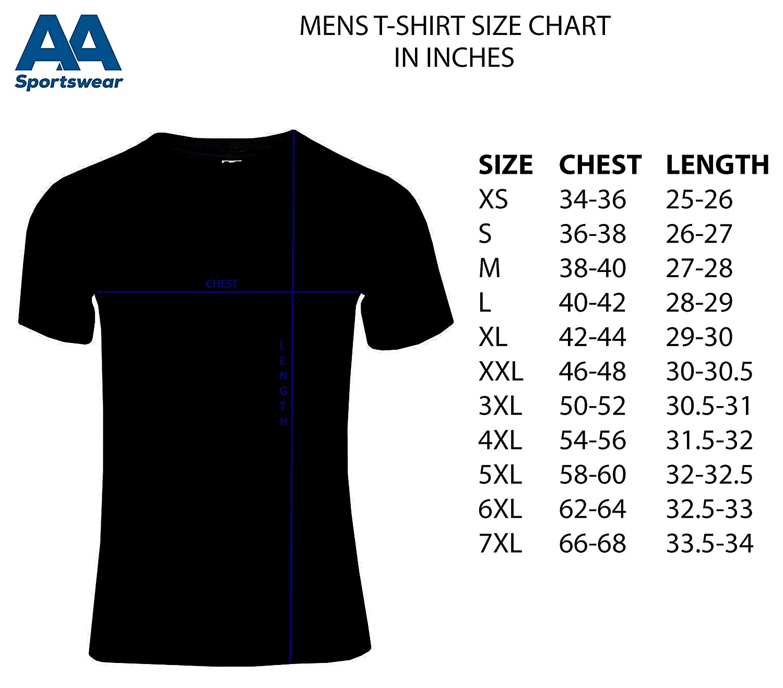 AA Sportswear Nuevo Hombre Transpirable Camiseta de Manga Corta ...