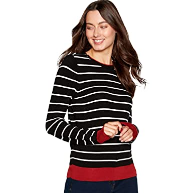 670a4bd0f1f7 Debenhams The Collection Womens Black Stripe Print Zipped Shoulder ...