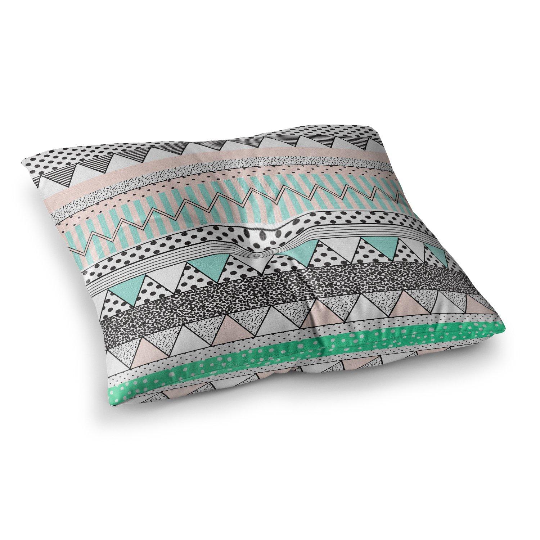 Kess InHouse Vasare NAR Chevron Motif Pink Teal 23 x 23 Square Floor Pillow