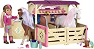 Glitter Girls by Battat – All Asparkle Acres Riding Stable Set – Accessory set for 14-inch horses - 14 inch Doll Accessories