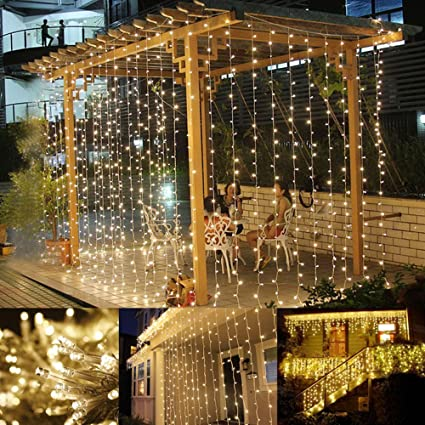 le led window curtain string light 306 leds icicle light string 98ft x