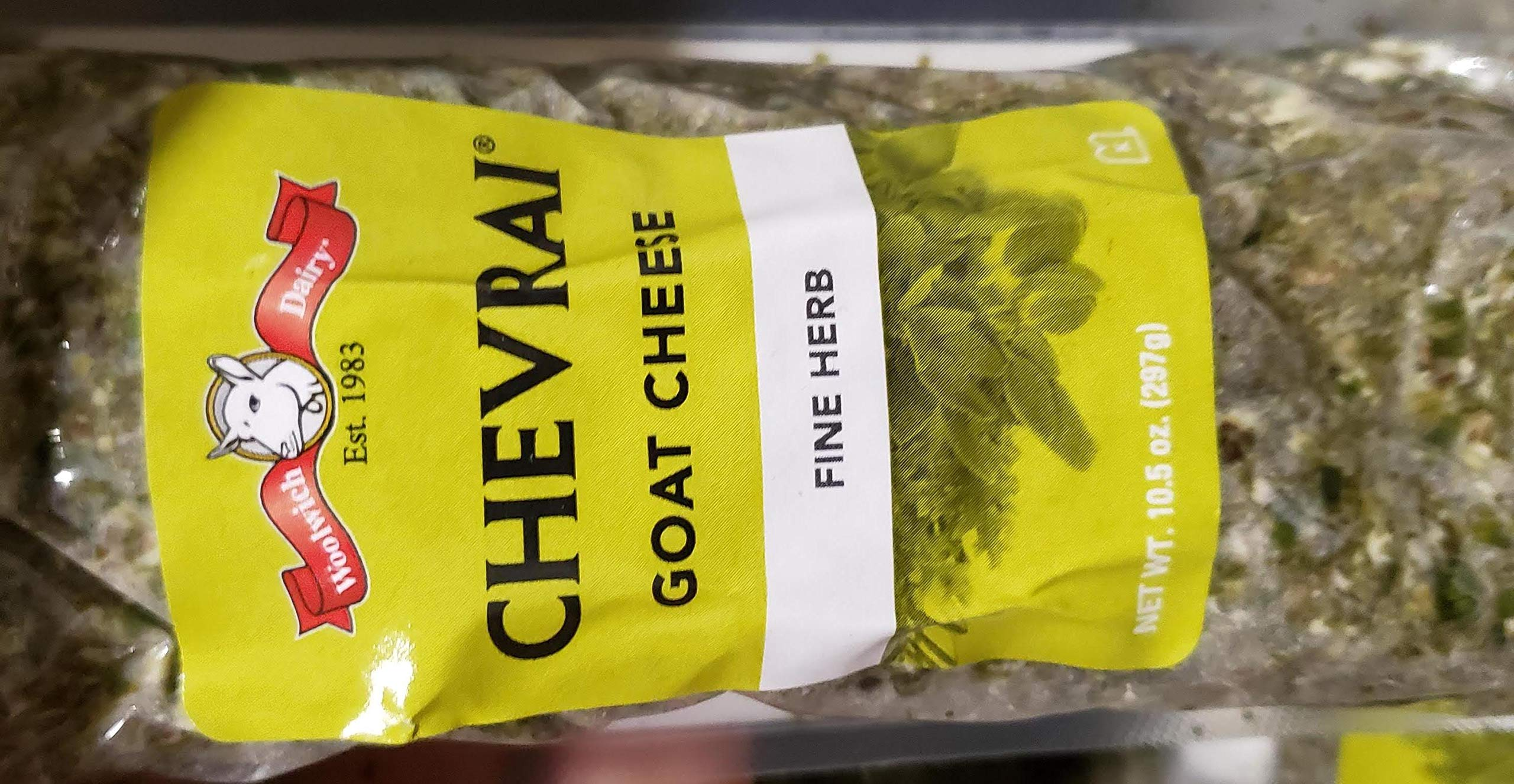 Chevrai Goat Cheese Fine Herb 10.5 oz X 2 pack Total: 21oz Kosher and Halal