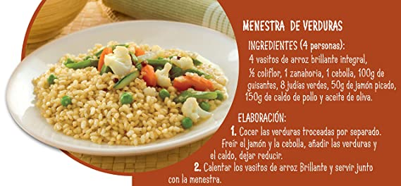 Brillante Arroz Integral - Pack de 2 x 125 g - Total: 250 g: Amazon.es: Amazon Pantry
