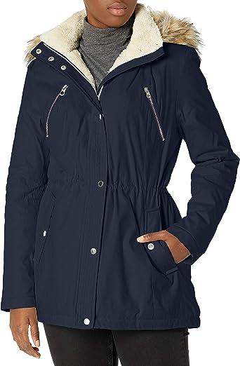 Nautica womens Micro Fiber Parka Anorak With Hood Parka Jacket