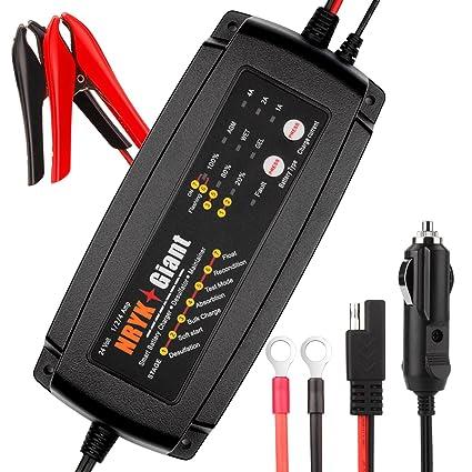 Cargador de batería de coche 24 voltios 1A / 2A / 4A 3 en 1 ...