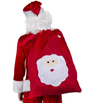 Gigante Papá Noel Saco (83.8cmx58.4cm) Jumbo Calcetines navidad mochila Papá Noel