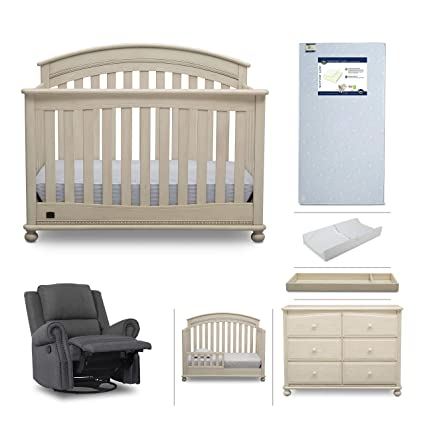 Baby Furniture Set - 7-Piece Nursery Furniture |Simmons Kids Aden |  Convertible Crib - Amazon.com: Baby Furniture Set - 7-Piece Nursery Furniture |Simmons