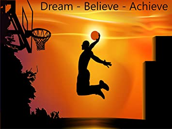 Success Motivational Inspirational Sports Basketball Athlete Quote Poster Wall Art Print 18X24 Inch Hi Gloss