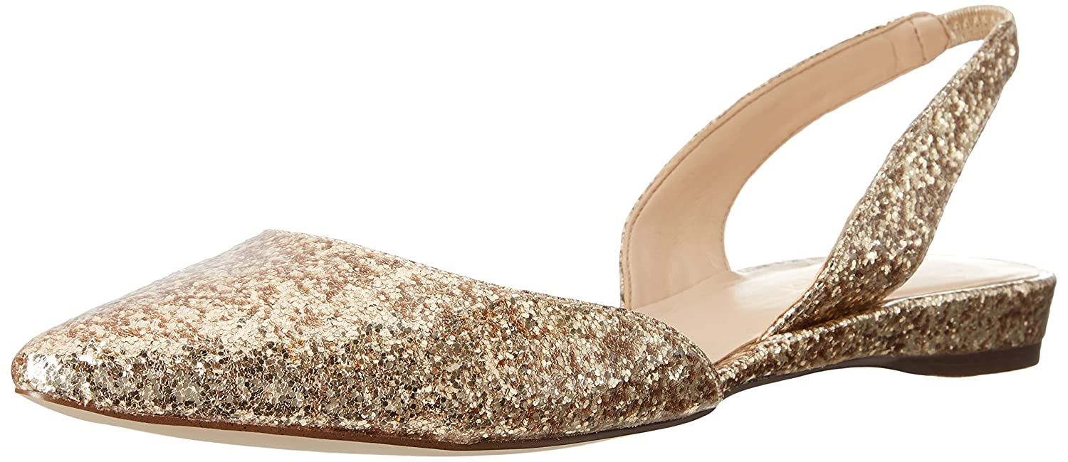 Nine West Women's Werein Synthetic Ballet Flat B01A6WEZF2 6 B(M) US|Light Gold