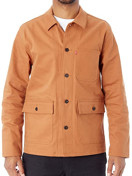 Levis Oil Amazon Chaqueta xl Marron Argan Skateboarding Military UIdqnASB