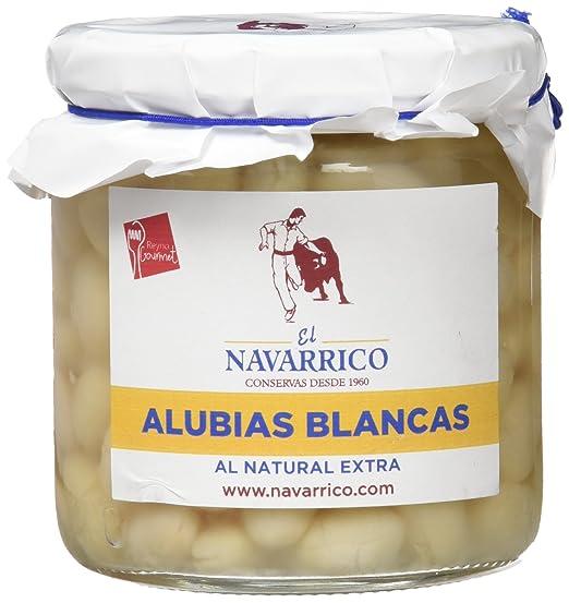 El Navarrico Alubia Blanca al Natural Extra - Paquete de 3 x 325 gr - Total