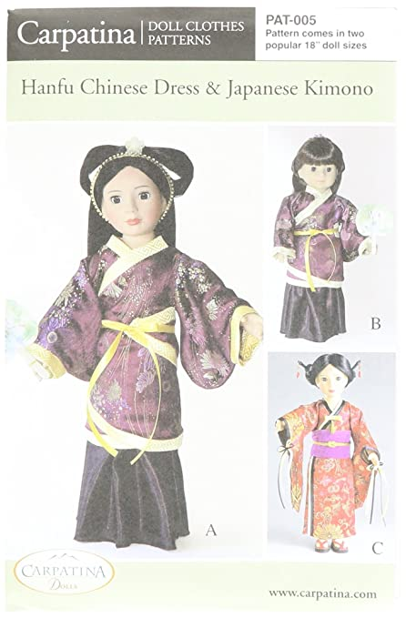 Amazon Pattern For Hanfu Kimono Fits 40 American Girl Cool American Girl Patterns