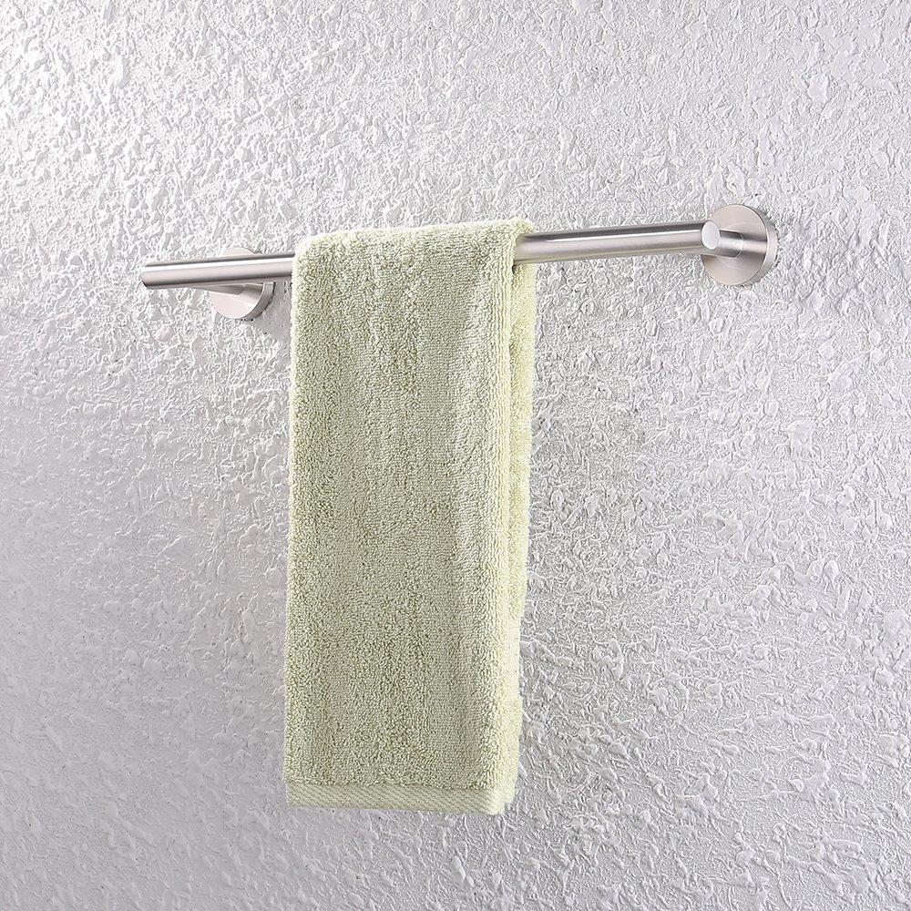 A2000S80-2 KES Home KES 32-Inch Towel Bar Bathroom Shower Organization Bath Single Towel Hanger Holder Brushed SUS 304 Stainless Steel Finish