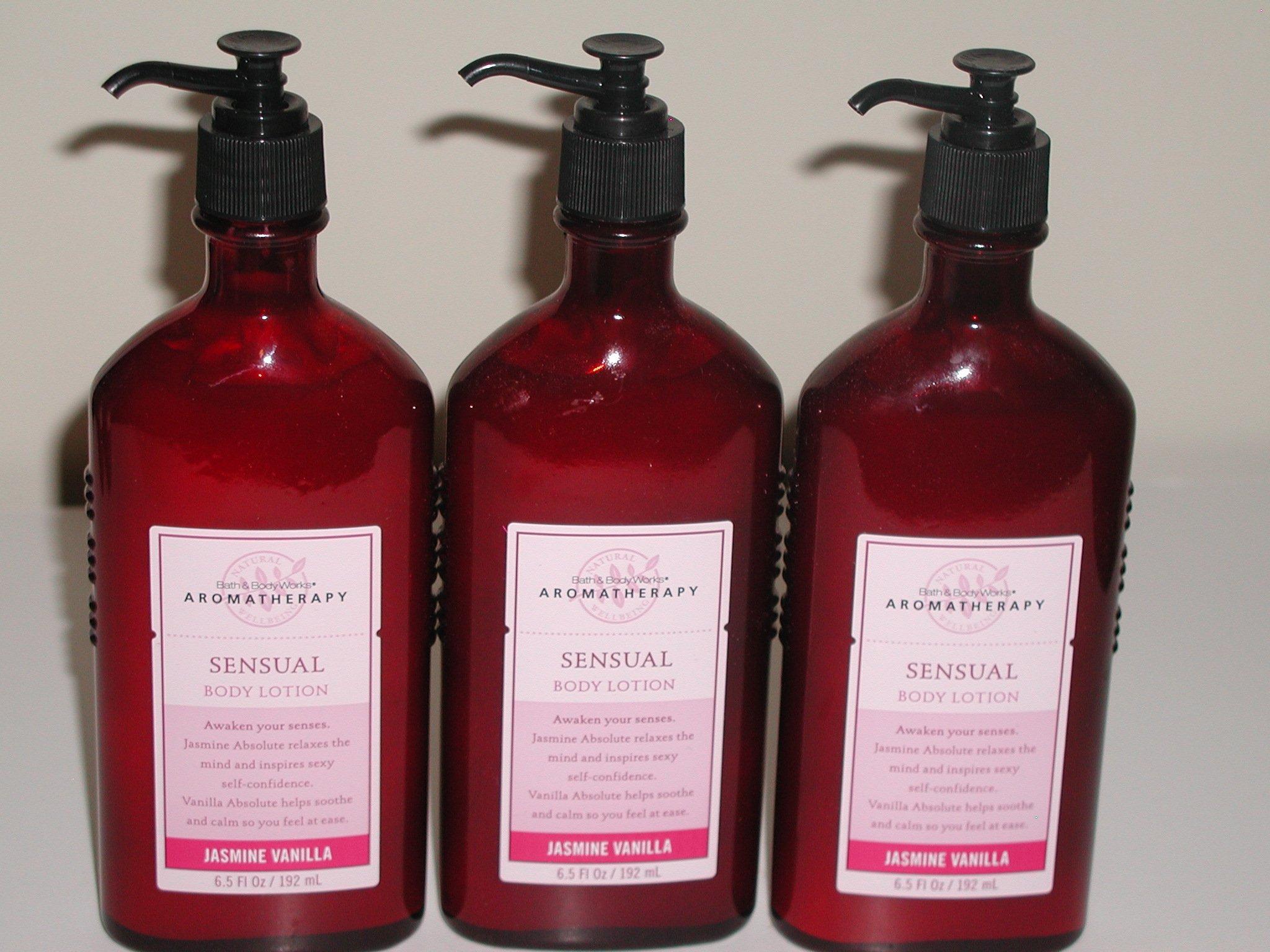 Lot of 3 Bath & Body Works Aromatherapy Jasmine Vanilla Body Lotion 6.5 fl oz (Jasmine Vanilla)