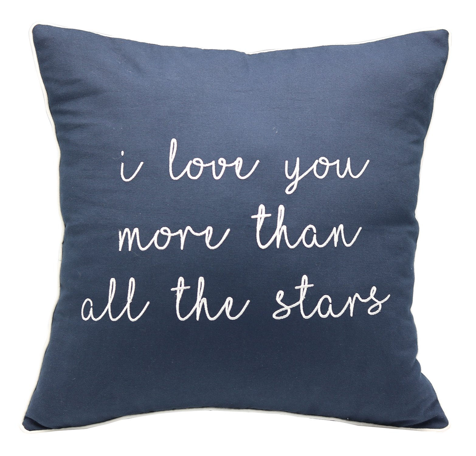 YugTex Pillowcases I Love you more than all the stars Embroidered Throw Cushion Covers for grandma gift Christmas gifts calligraphy home decor wedding gift engagement present housewarming gift