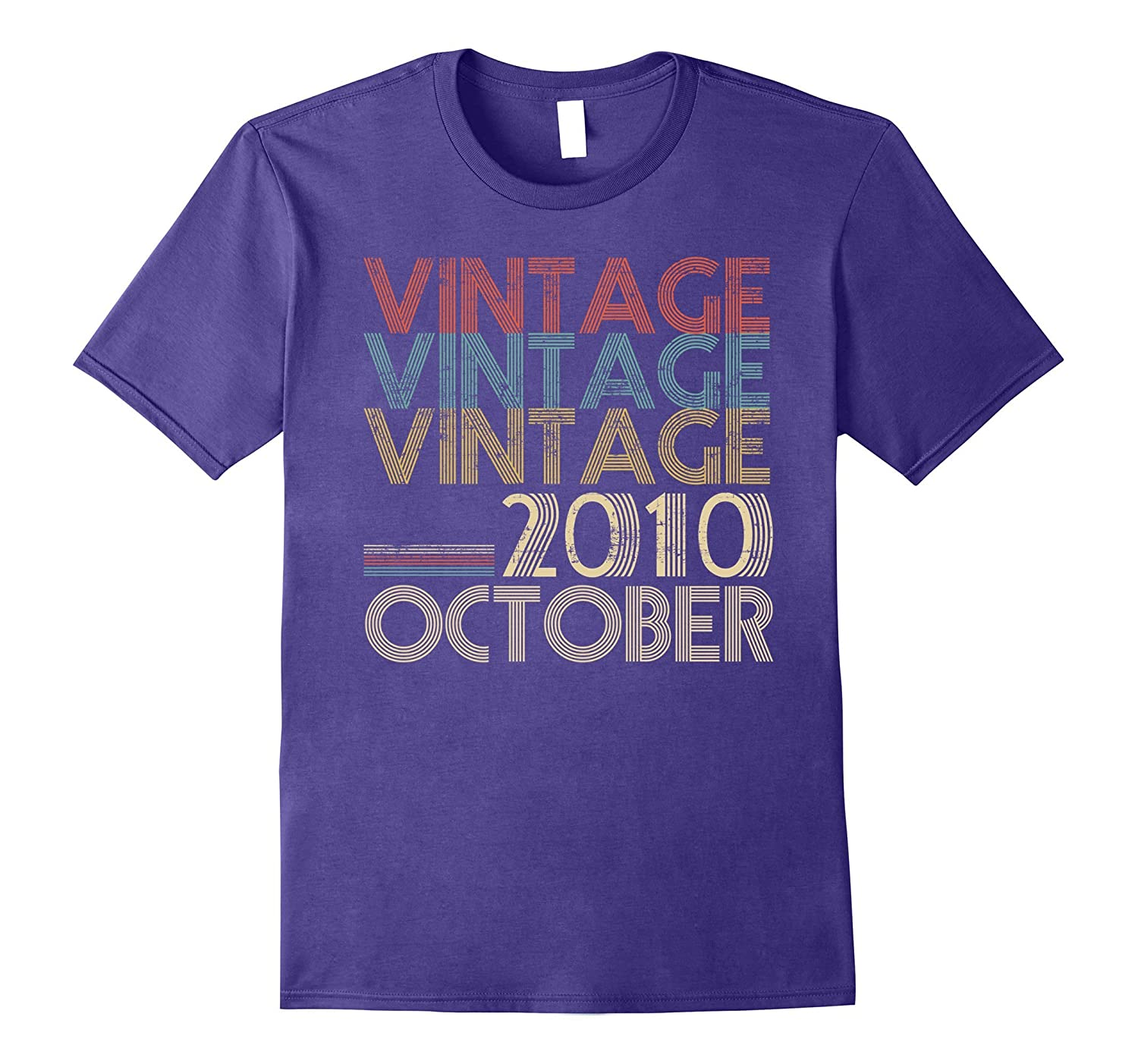 Retro Classic Vintage OCTOBER 2010 - 7th Gift 7 Years Old-FL