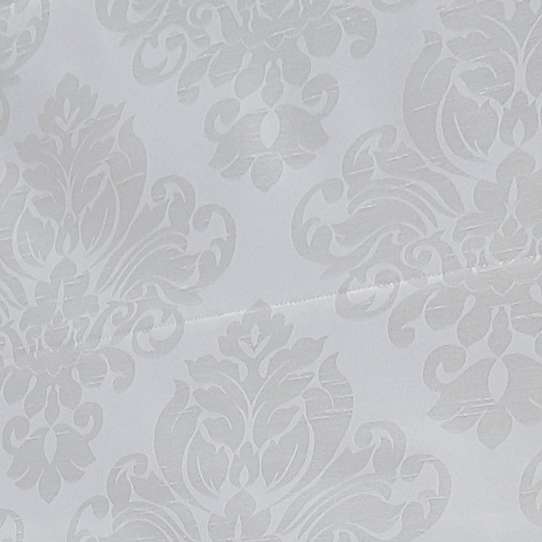 "Curtainworks Damask Window Shade, 23"" W x 64"" L, Ivory: Home & Kitchen"