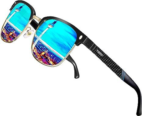 ATTCL Hombre Gafas De Sol Polarizadas Estructura De metal Al-Mg 8-188 Blue: Amazon.es: Ropa y accesorios