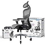 NOUHAUS Ergo3D Ergonomic Office Chair - Rolling Desk Chair with 3D Adjustable Armrest, 3D Lumbar Support and Blade Wheels - M