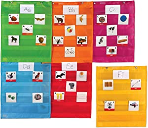 Learning Resources Magnetic Pocket Chart Squares, Classroom/Teacher Organizer, Various Colors, All Grades, Set of 6