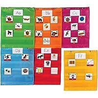 Learning Resources LER2386 Magnetic Pocket Chart Squares Set,Multi-color