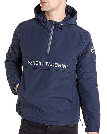Marque Manteau 37750 Tacchini Blanc Sergio Capuche À Imprimé wvTXqaaW5