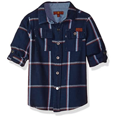 7 For All Mankind Boys' Long Sleeve Sport Shirt (More Styles Available)