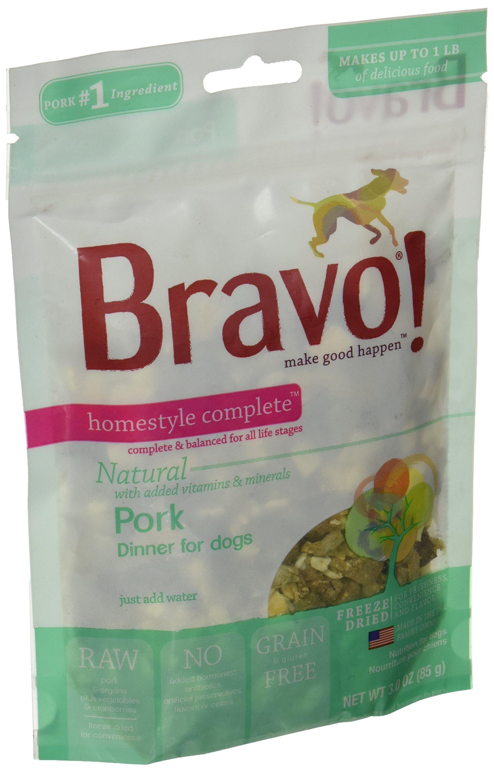 Bravo Homestyle Freeze Dried Dinner Pork Food, 3 oz.