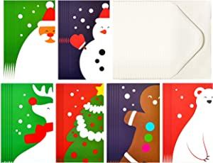 JOYIN 36 Pcs Modern Art Christmas Holiday Greeting Cards Money/Gift Card Holder for Cash, Checks, or Gift Cards with 36 White Envelopes
