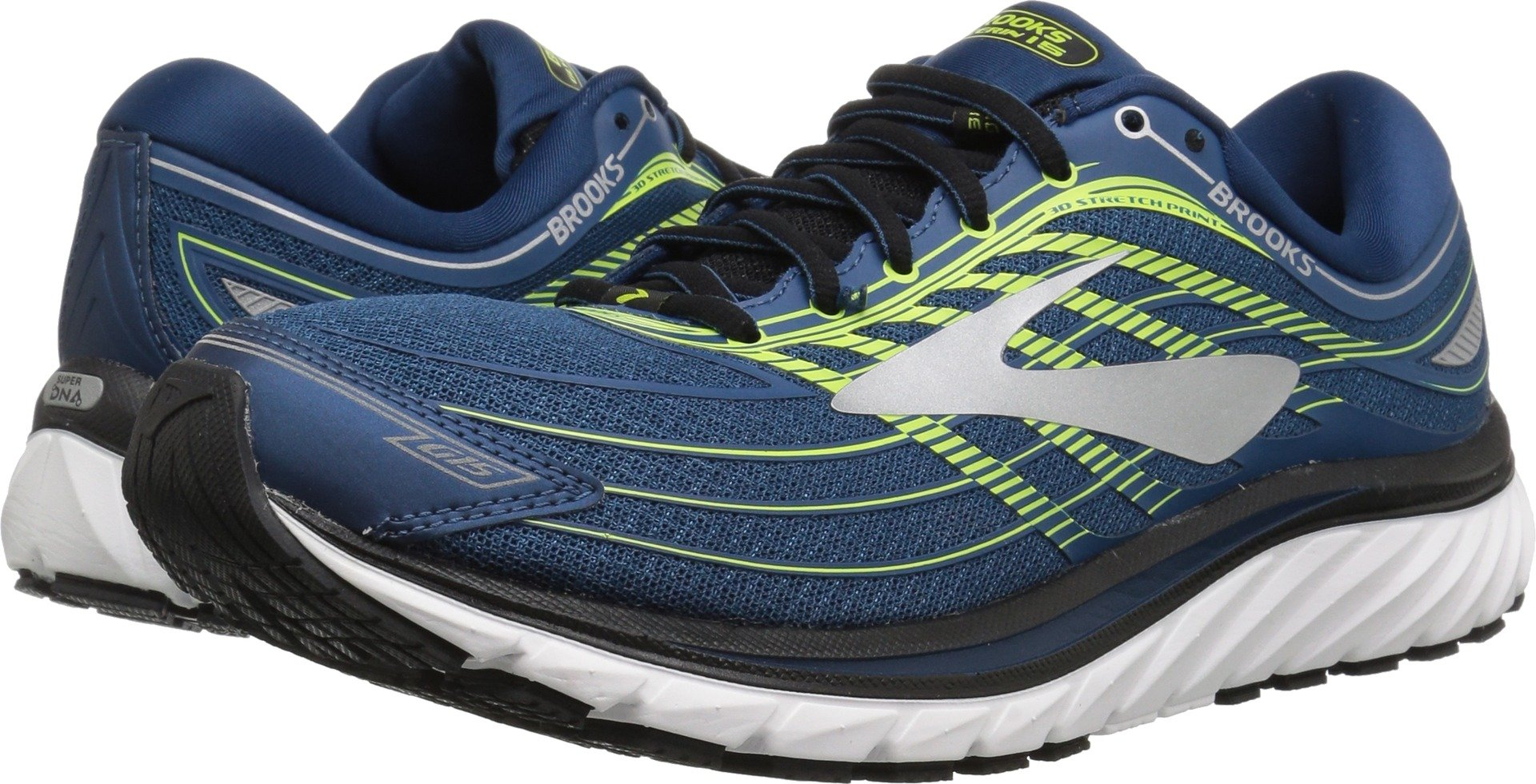Brooks Men's Glycerin 15 Blue/Lime/Silver 11.5 D US by Brooks