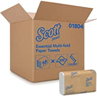 Scott Essential Multifold Paper Towels (01804) with Fast-Drying Absorbency Pockets, White, 16 Packs/Case, 250 Multifold…