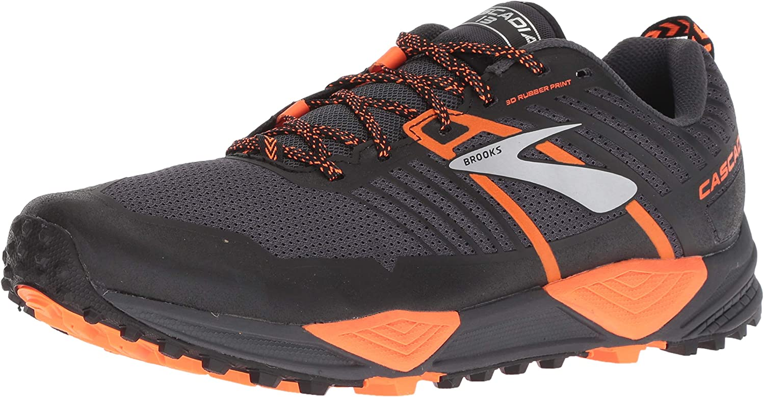 Brooks Cascadia 13, Zapatillas de Cross para Hombre, Multicolor (Grey/Black/Orange 026), 40 EU: Amazon.es: Zapatos y complementos