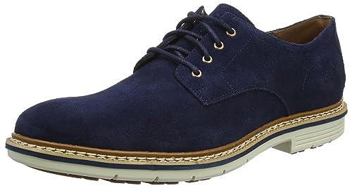 Naples Trail Sensroflex, Oxford para Hombre, Azul-Blau (Black Iris Silk Suede), 41 EU Timberland