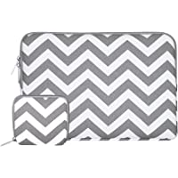MOSISO Funda Protectora Compatible 13-13,3 pulgadas MacBook Air/MacBook Pro Retina/Surface Laptop 2017 / Surface Book 2/1, Chevron Estilo Lona Bolso Manga Cubierta con Pequeño Caso, Gris