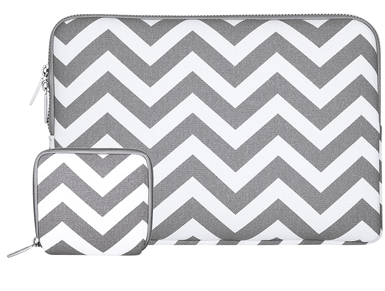 ddc726a290be MOSISO Laptop Sleeve Bag Compatible 13-13.3 Inch MacBook Pro, MacBook Air,  Notebook with Small Case, Chevron Style Canvas Protective Carrying Case ...