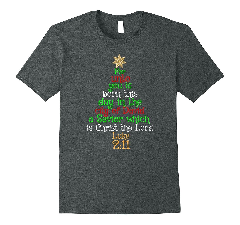 UNTO YOU IS BORN A SAVIOR Christmas T-Shirt Bible Verse Tee