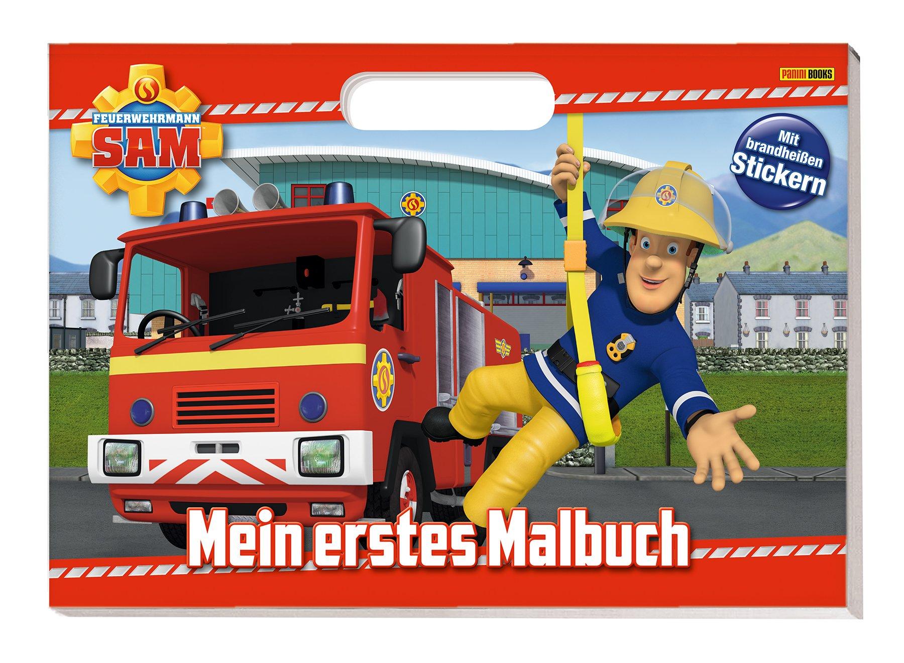 Feuerwehrmann Sam: Mein erstes Malbuch: Malbuch mit Henkel und Stickern
