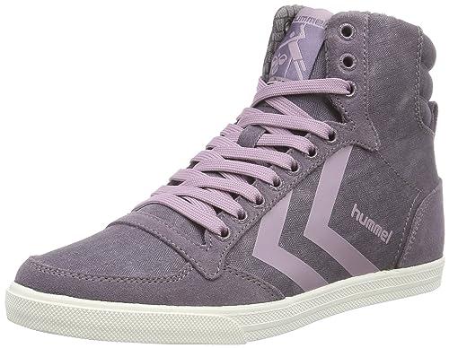 Hummel Hummel SS Waxed Herringbone HI - Zapatillas Deportivas Altas de Lona Unisex Adulto: Amazon.es: Zapatos y complementos