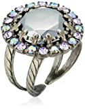 """Sorrelli  """"Chantilly Lace"""" Circular Cocktail Ring with Crystal Edge Accents"""