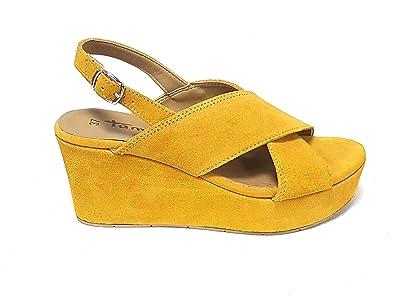 lace up in many styles 2018 shoes Tamaris Damen Sandalen Gelb Sun