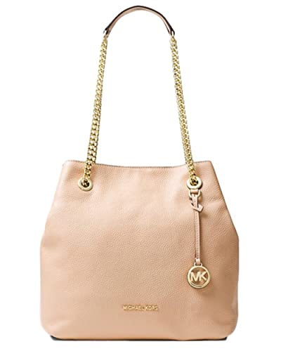bdc7234c7579 Amazon.com: MICHAEL MICHAEL KORS Jet Set Large Leather Shoulder Bag Oyster  Color: Shoes