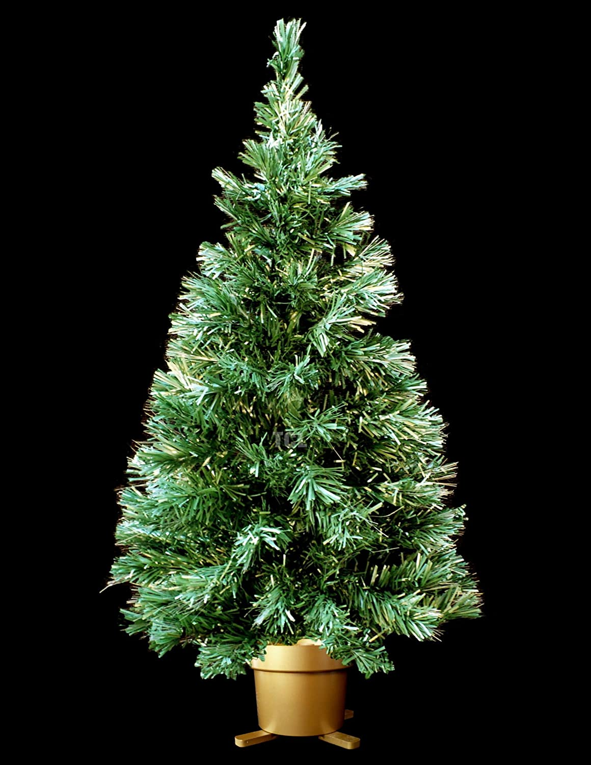 Amazon.com: Holiday Time 32 Inch Green Fiber Optic Christmas Tree ...