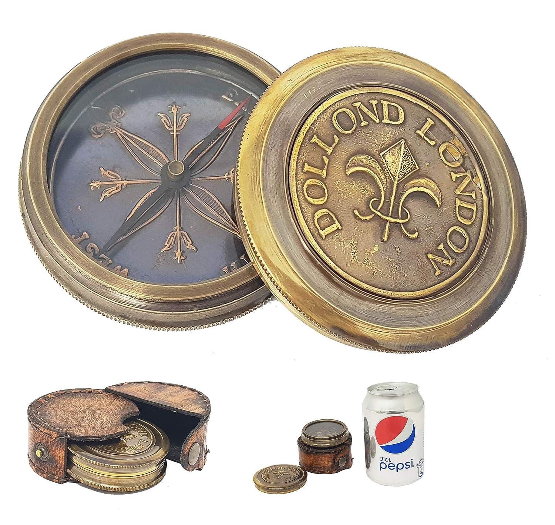 Tischkompass mit Lupe für Kapitänskarte