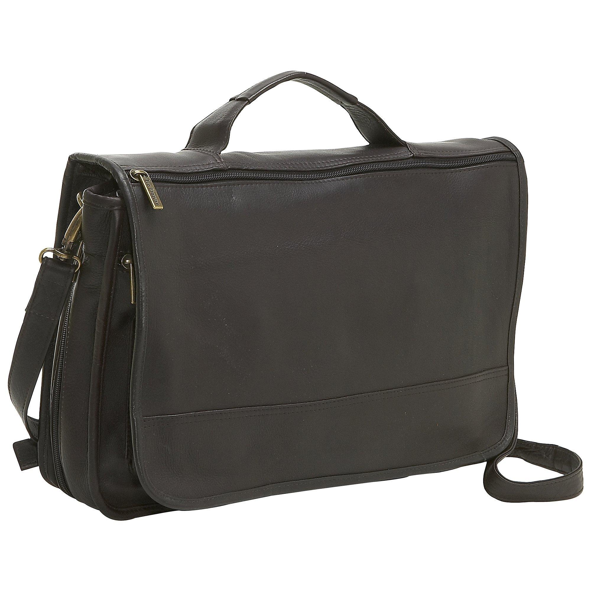 Le Donne Leather Expandable Messenger Bag, Cafe by Le Donne Leather