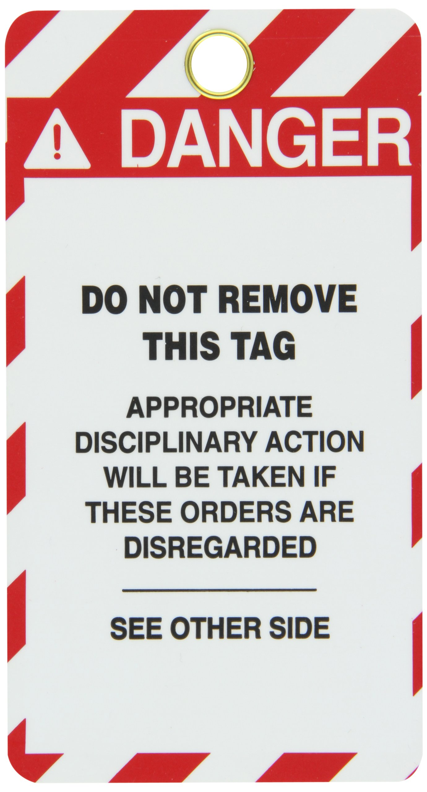 Lockout Tag, Super Laminated, Reusable Lockout Tag, Legend ''Do Not Start'', 5-1/2'' Length x 3-1/4'' Width