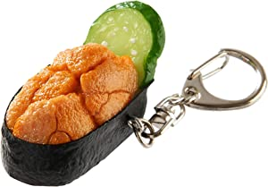 flavorbox(フレーバーボックス) Sushi Keychain (1 Pack: Sea Urchin) Realistic, Food replicas/for Bags, Keys or Pouches/A Gift for People who Like Sushi and Novelty/Japanese Culture/Japan-Made/ 20 Kinds