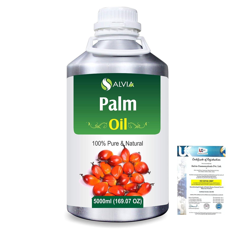 Palm (Elaeis guineensis)100% Natural Pure Carrier Oil 5000ml/169 fl.oz. B07RH7PHVR